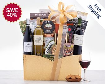 California Trio Wine Gift Basket Gift Basket Free Shipping Discounted
