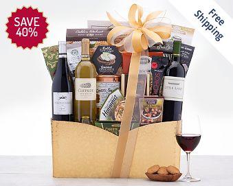 California Trio Wine Gift Basket Gift Basket Free Shipping Discounted