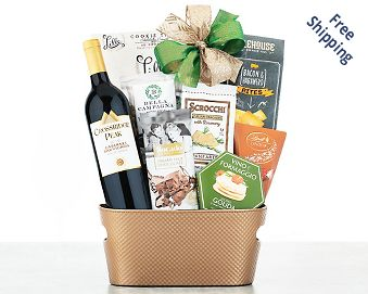 Rock Falls Vineyards Cabernet Wine Gift Basket Gift Basket  Free Shipping