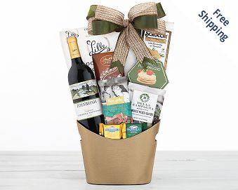 Rock Falls Vineyards Cabernet Wine Gift Basket Gift Basket  Free Shipping