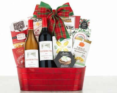 Vintners Path Holiday Tidings Wine Basket