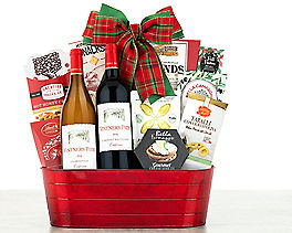 Suggestion - Vintners Path Holiday Tidings Wine Basket