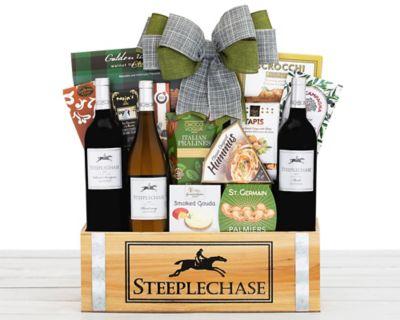 Steeplechase Vineyards California Trio Wine Basket FREE SHIPPING