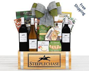 Steeplechase Vineyards California Trio Wine Basket Gift Basket  Free Shipping