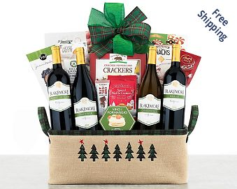 Kiarna Vineyards Quartet Gift Basket Free Shipping