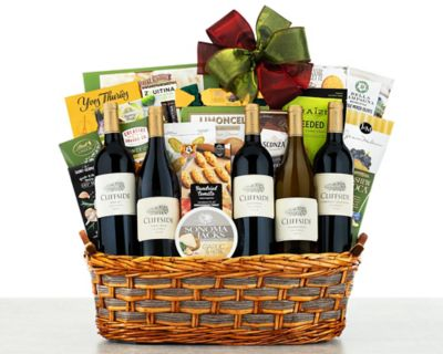 Cliffside Vineyards Tasting Room Wine Basket FREE SHIPPING