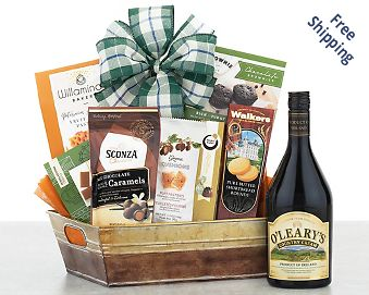 Maloney's Irish Country Cream and Chocolate Gift Basket  Free Shipping