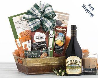 Maloney's Irish Country Cream and Chocolate Gift Basket  Free Shipping