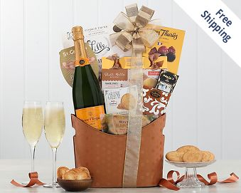 Veuve Clicquot Gift Basket  Free Shipping