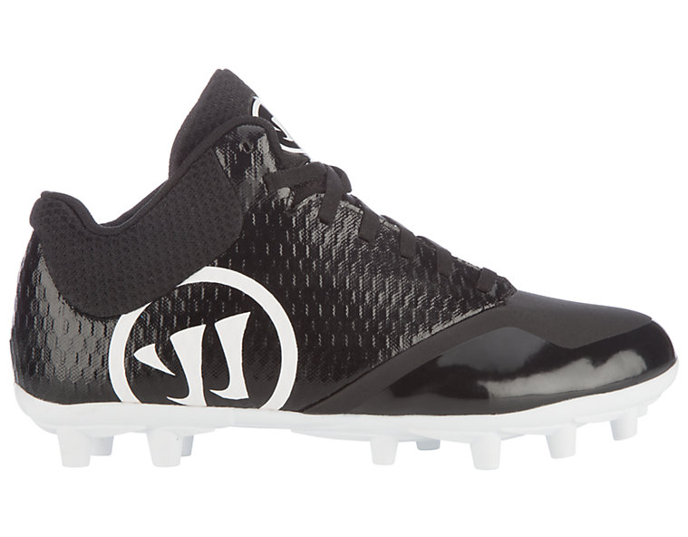 Burn 9.0 Jr. Cleat, Black with White image number 1