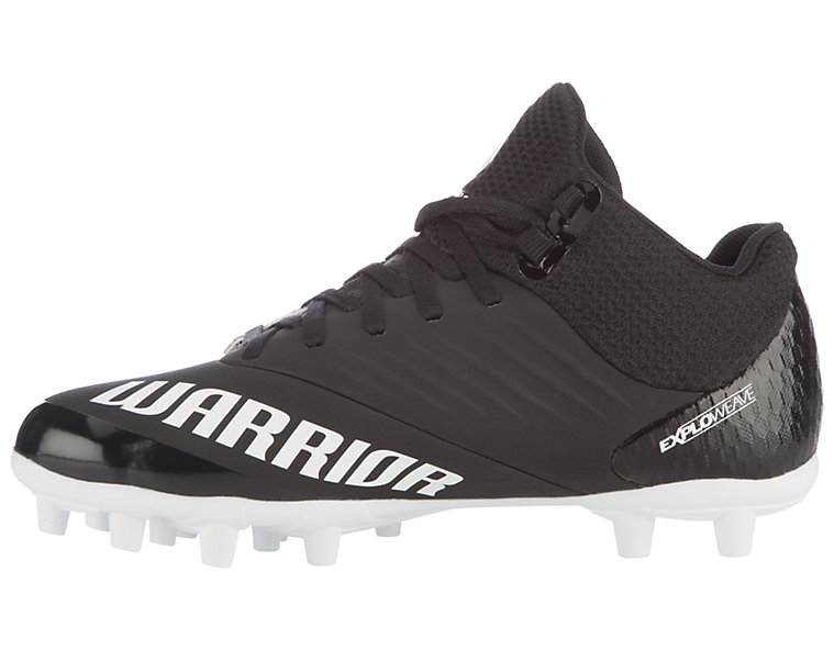Burn 9.0 Jr. Cleat, Black with White image number 2