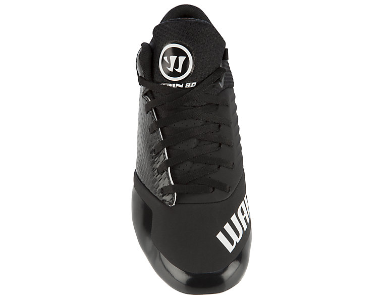 Burn 9.0 Jr. Cleat, Black with White image number 0