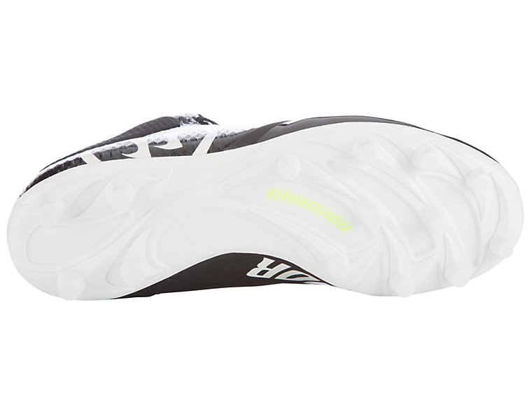 Burn 9.0 Jr. Cleat, Black with White image number 3