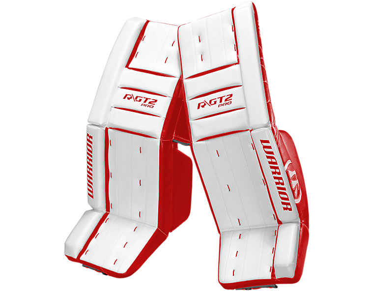 GT2 Pro Classic Leg Pad, White with Red image number 0