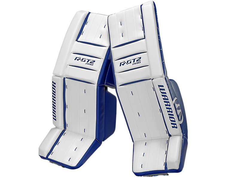 GT2 Pro Classic Leg Pad, White with Royal Blue image number 0