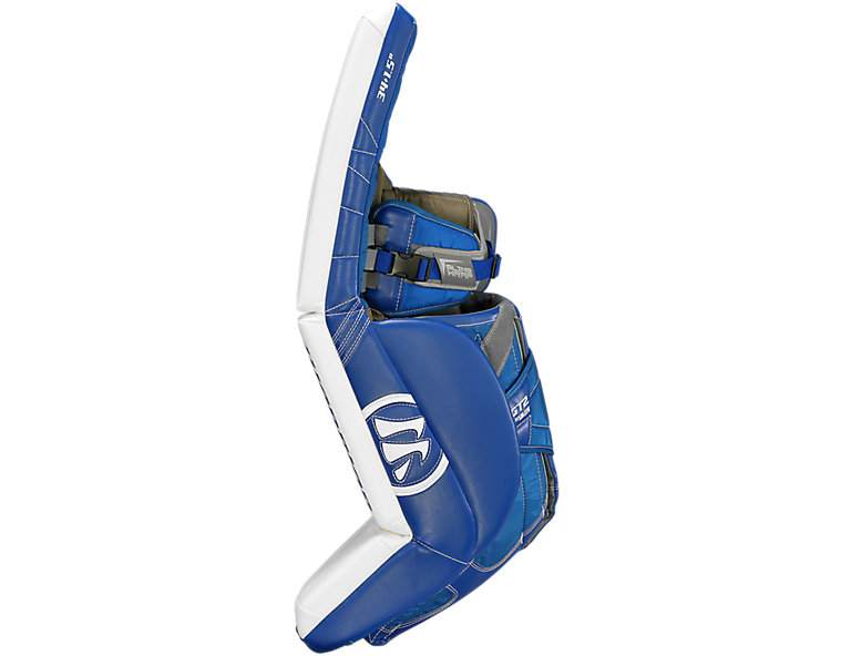 GT2 Pro Classic Leg Pad, White with Royal Blue image number 1