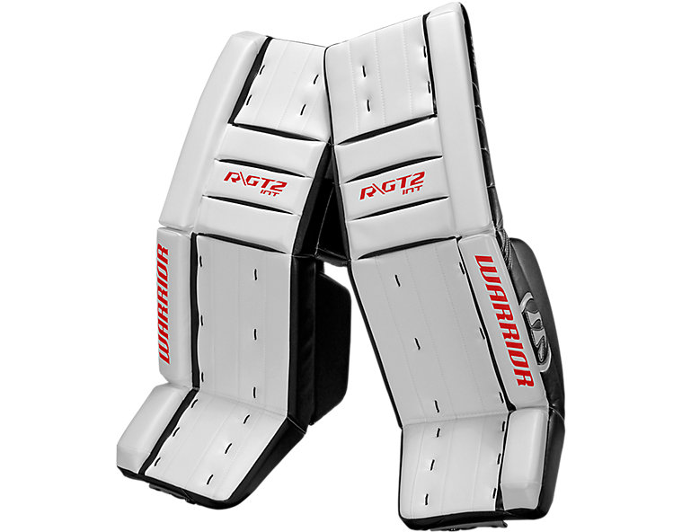 GT2 INT Classic Leg Pad, White with Black & Red image number 0