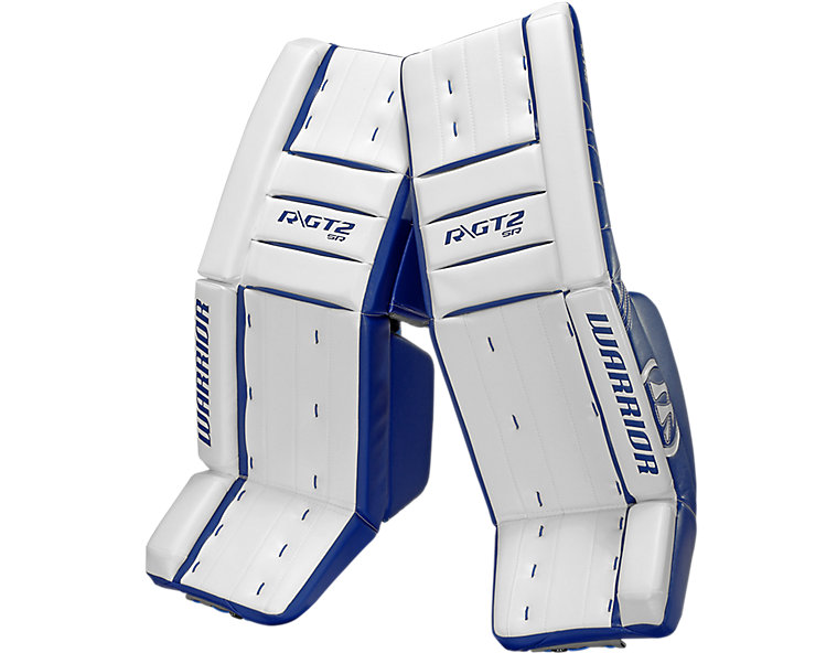 GT2 SR Classic Leg Pad, White with Royal Blue image number 0