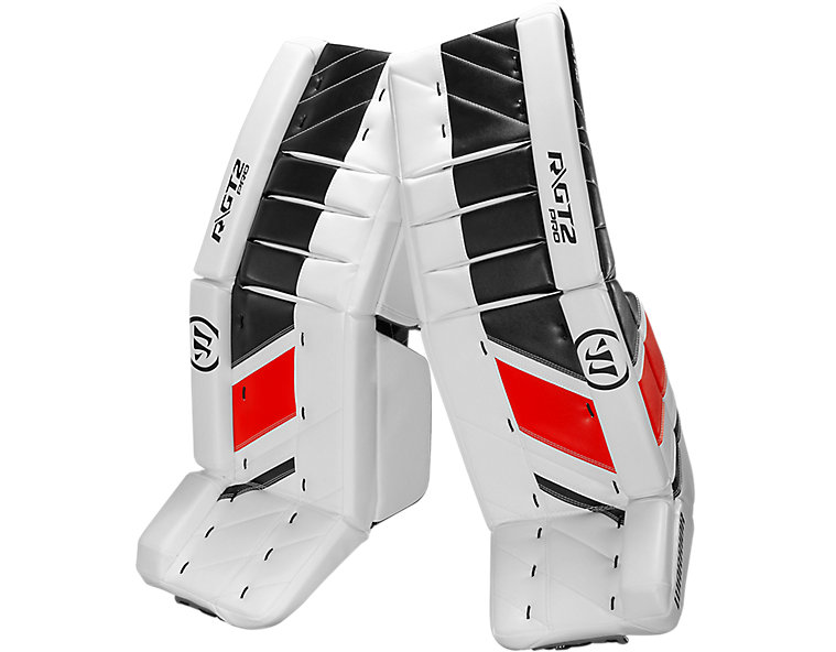 GT2 Pro Leg Pad, White with Black & Red image number 1