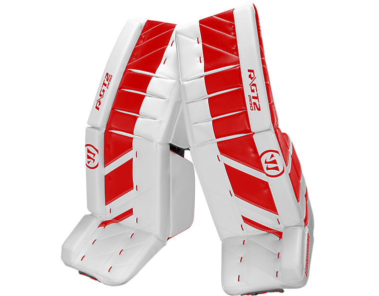 GT2 Pro Leg Pad, White with Red image number 0