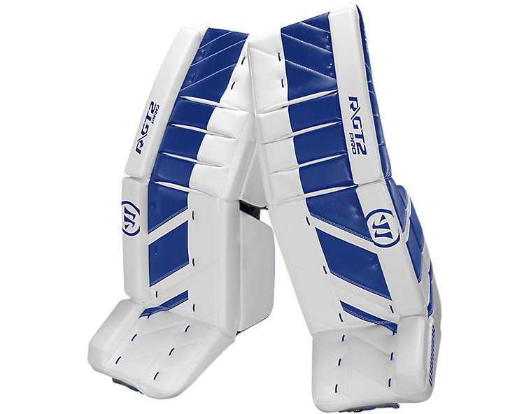 GT2 Pro Leg Pad, White with Royal Blue image number 0