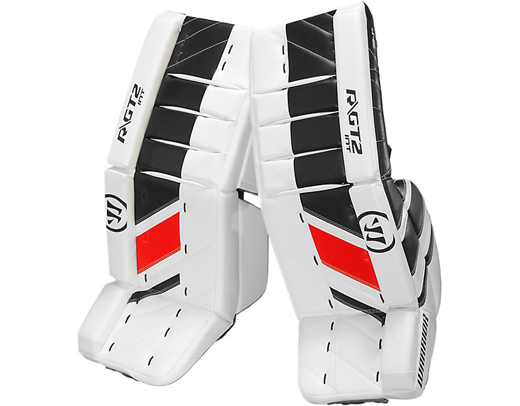 GT2 INT Leg Pad, White with Black & Red image number 0