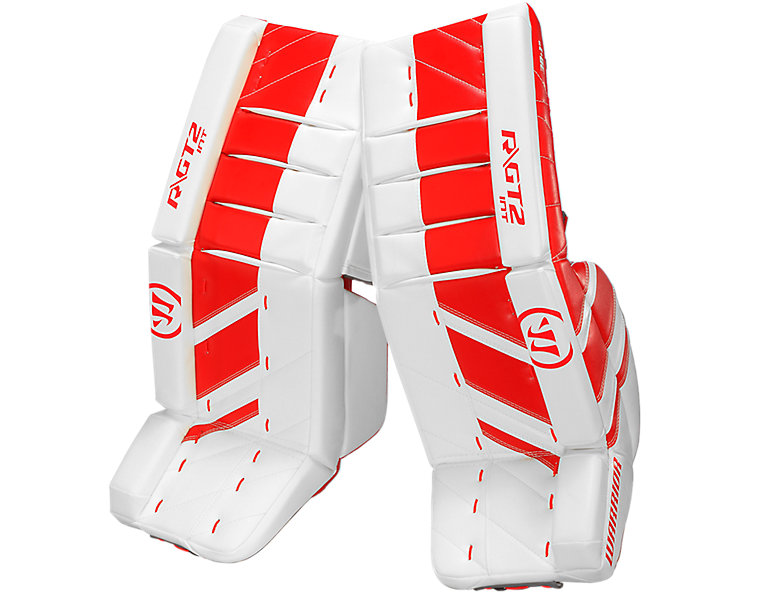 GT2 INT Leg Pad, White with Red image number 0