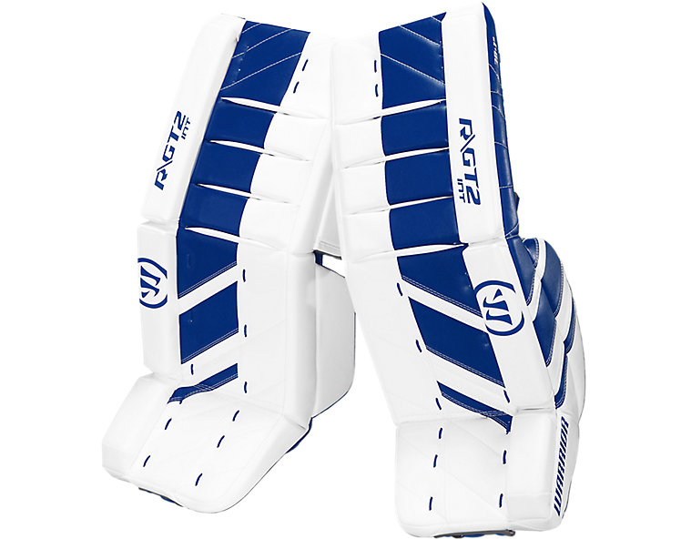 GT2 INT Leg Pad, White with Royal Blue image number 0
