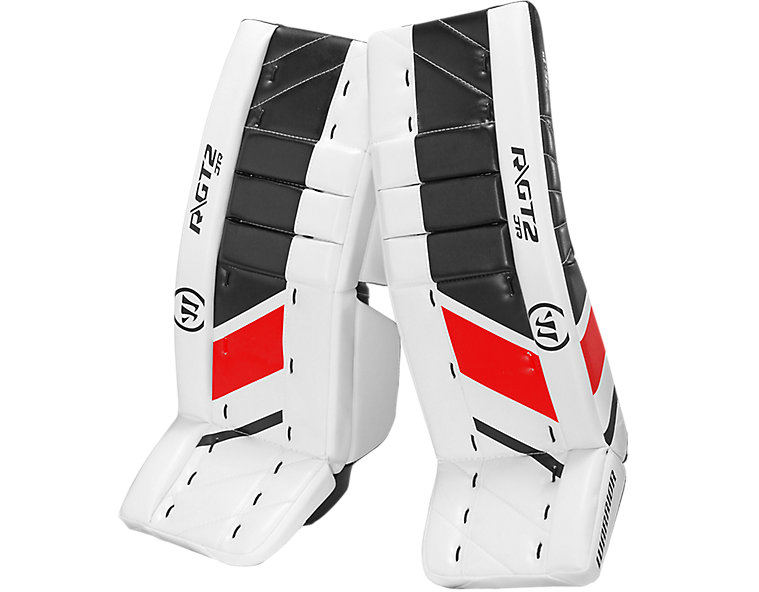GT2 JR Leg Pad, White with Black & Red image number 0