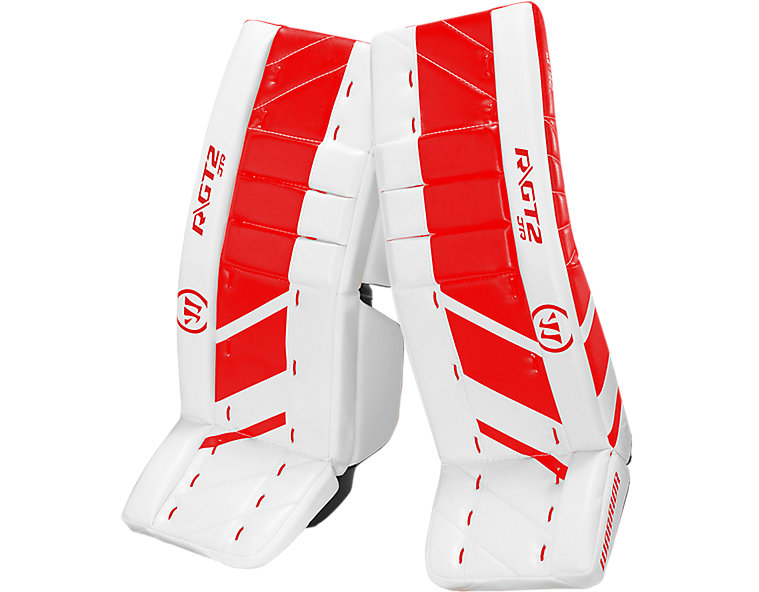 GT2 JR Leg Pad, White with Red image number 0