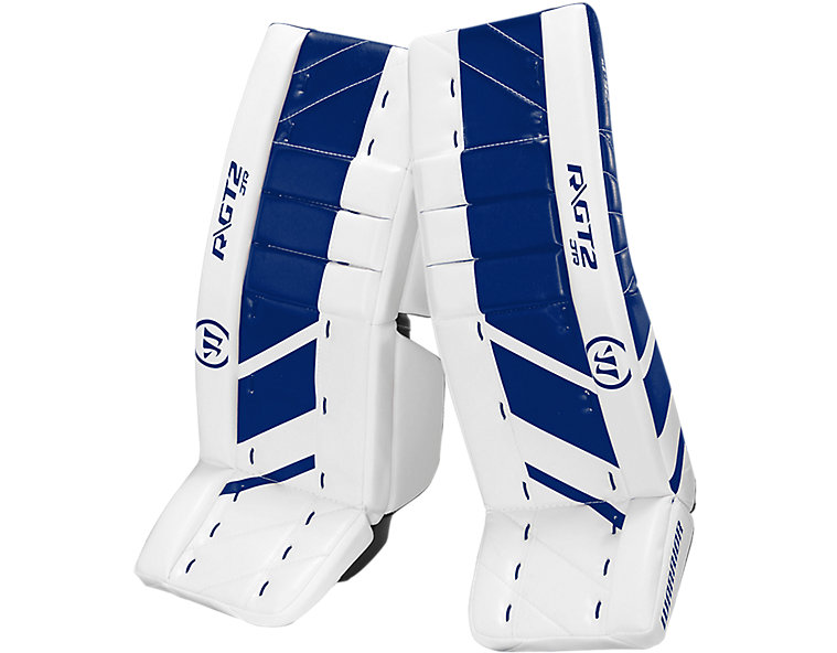 GT2 JR Leg Pad, White with Royal Blue image number 0