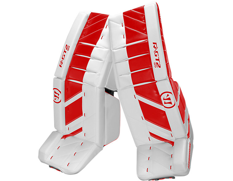 GT2 SR Leg Pad, White with Red image number 0