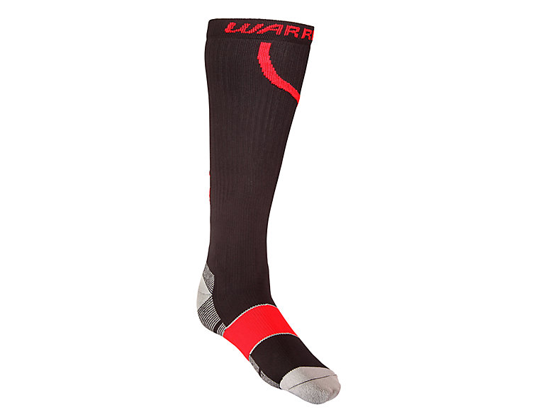 Comp Pro Hockey Sock, Black with Red image number 0