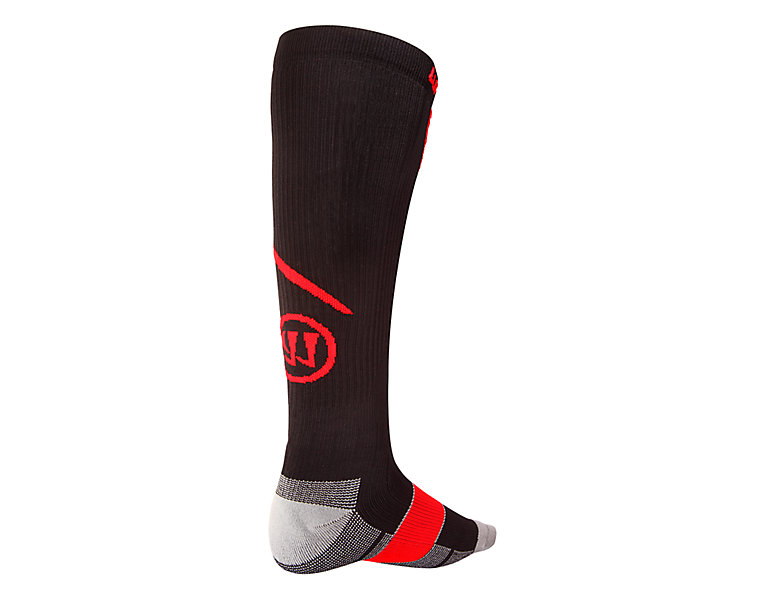 Comp Pro Hockey Sock, Black with Red image number 1
