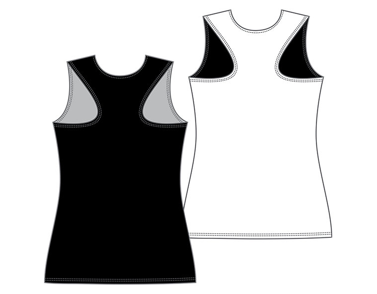 Women's Camp Pinnie, Black with White image number 1