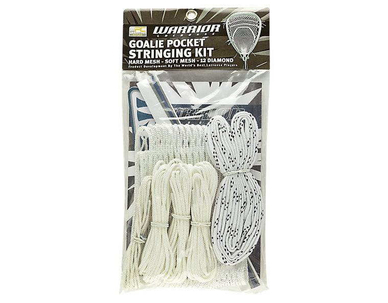 String Kit - Soft Mesh Pocket, Goalie, White image number 0