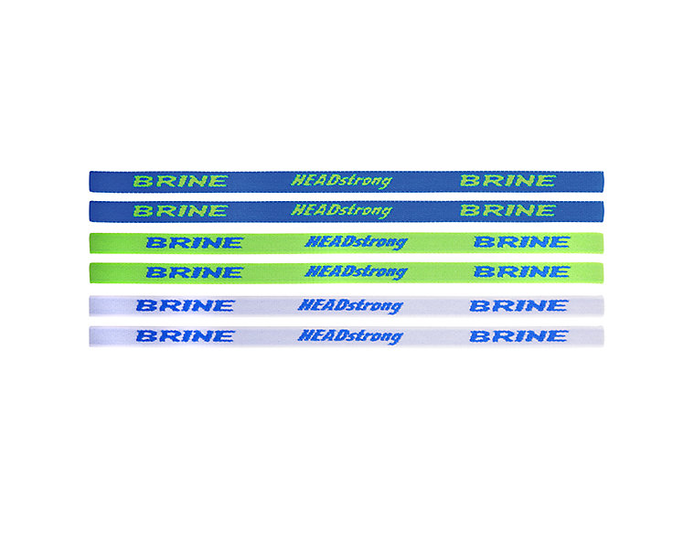Women's Headbands, Neon Green with Blue & White image number 0