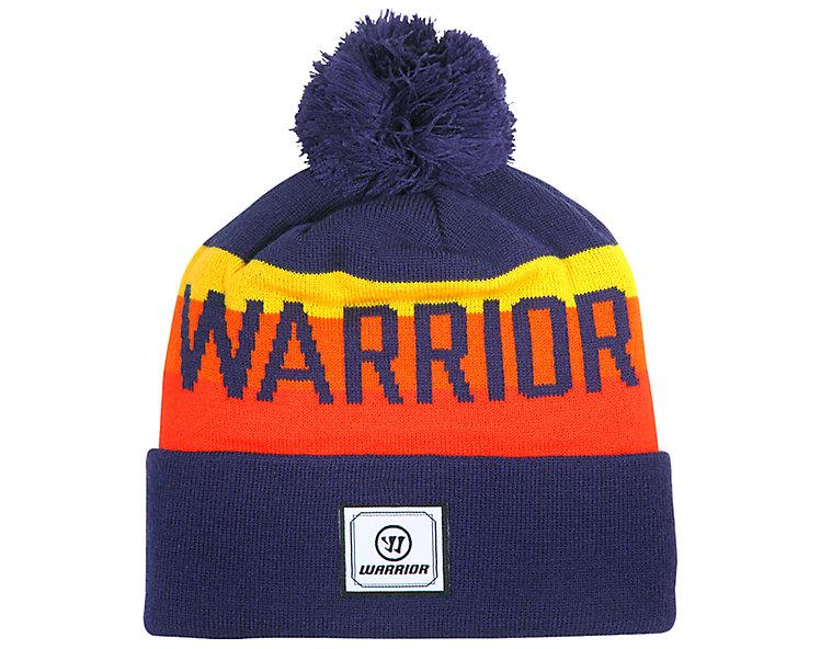 Warrior Classic Toque, Navy with Orange & Yellow image number 0