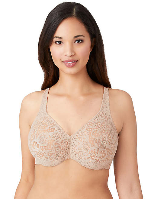 Halo Lace Full Figure Underwire Bra - DD+ - 65547
