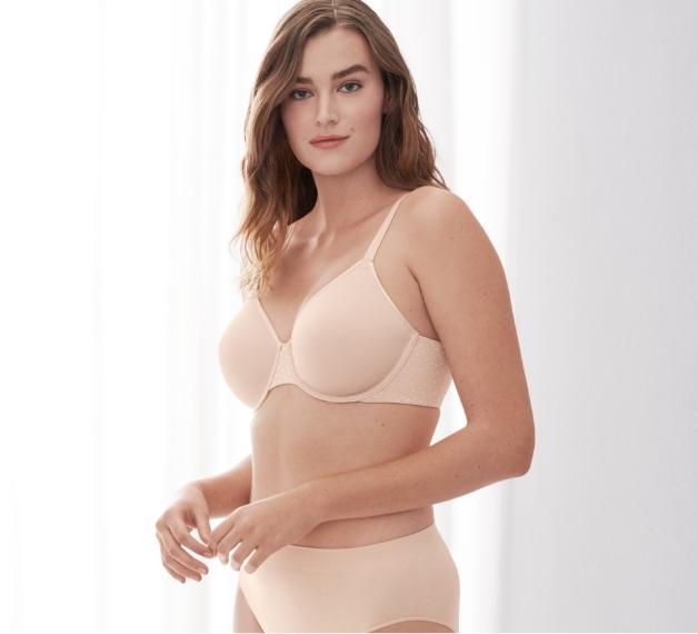 Wacoal pink minimizer bra