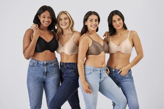 group of women modeling wacoal bras
