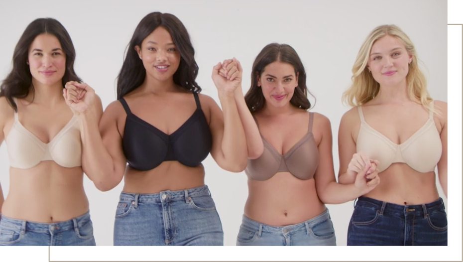 demonstrating black bra