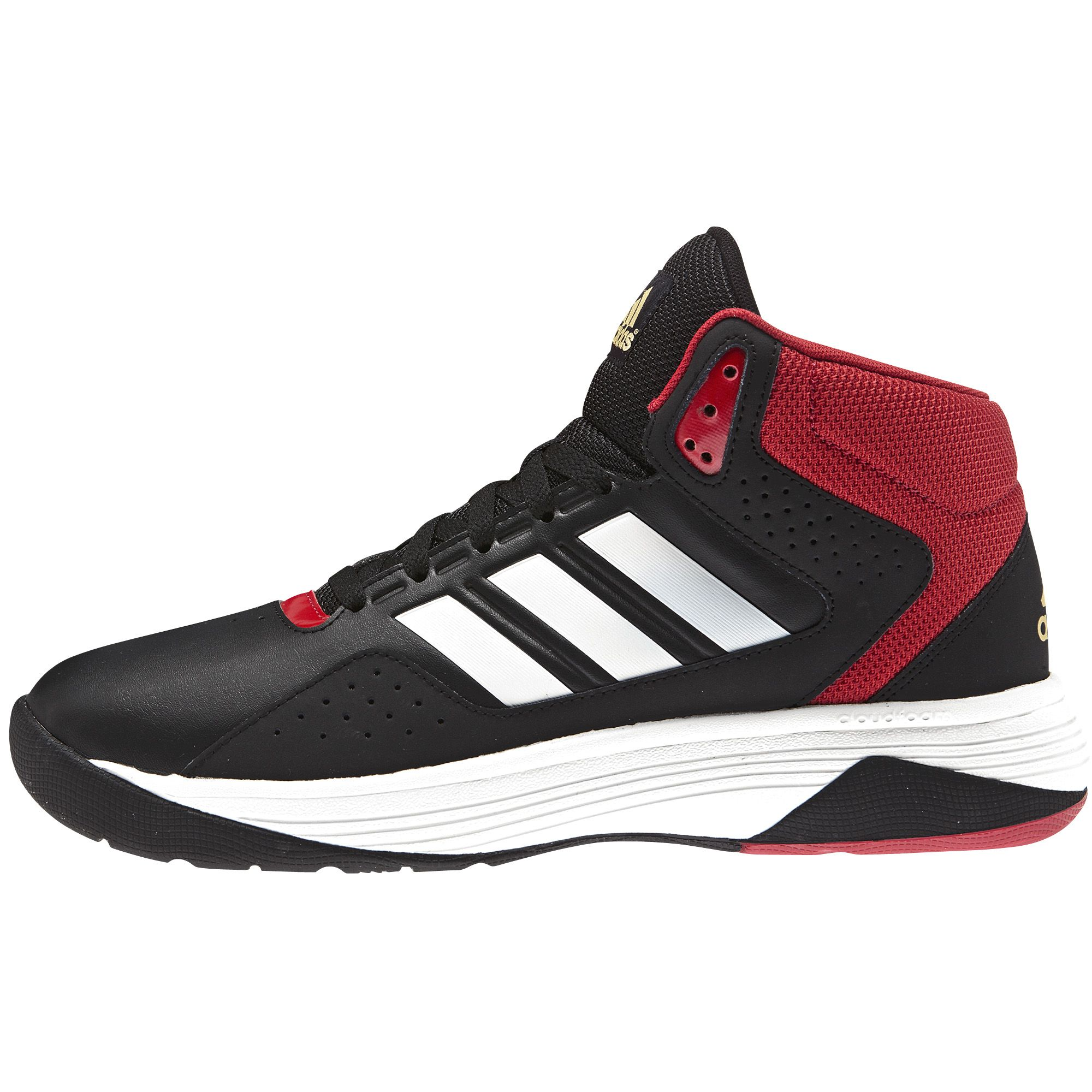 adidas Men's Cloudfoam Ilation Mid Basketball Shoe - Black/White
