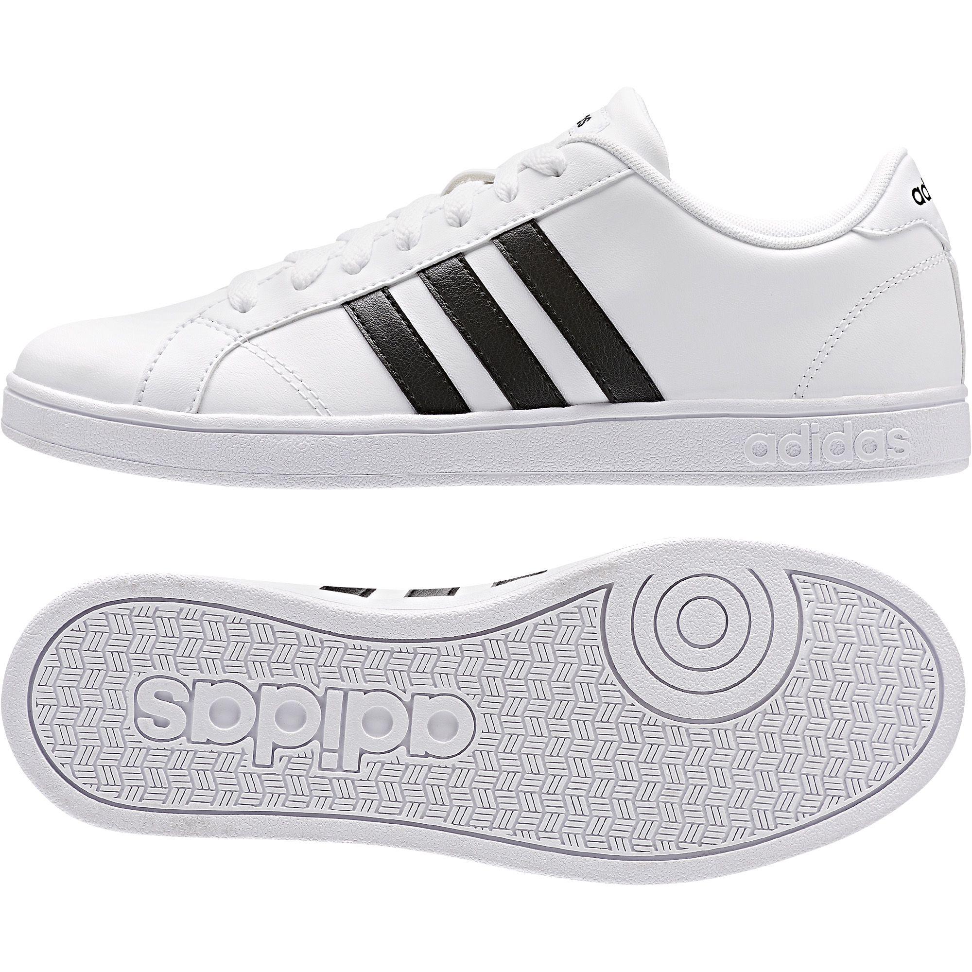 adidas Neo Women's Baseline Casual Sport Shoe - White/Black