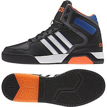 adidas Neo Men's BB9TIS Mid Basketball Shoe - Black/White