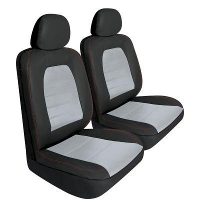 Pilot Automotive Sport Seat Covers Pair   Black