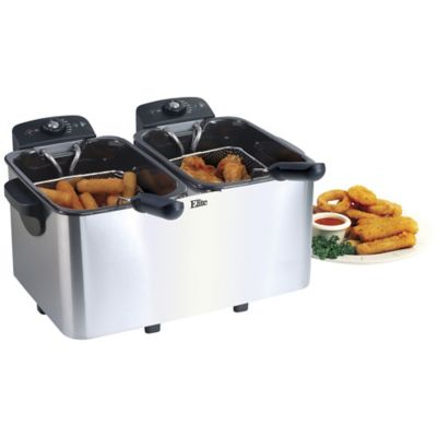 Elite 6-Qt. Dual Basket Deep Fryer photo