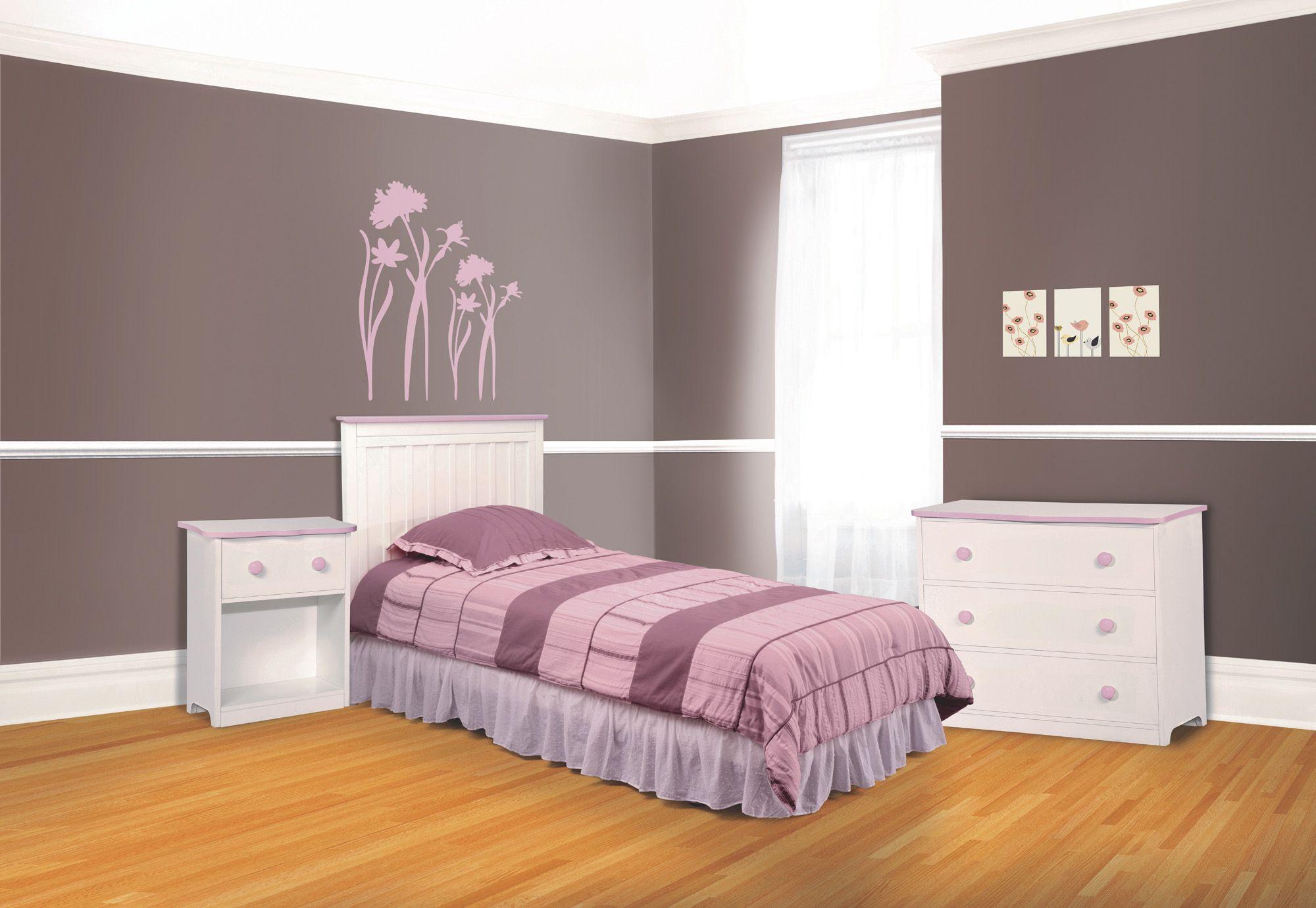 Gettington Delta Jill Collection Twin Bedroom Set White