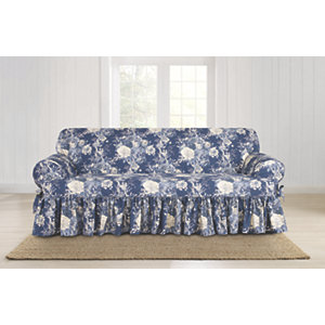 Sure Fit Waverly Ballad Bouquet T Cushion Sofa Slipcover