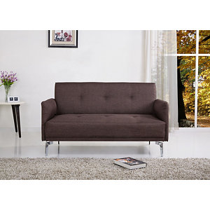 US Pride Furniture Simple Linen Fabric Loveseat   Brown